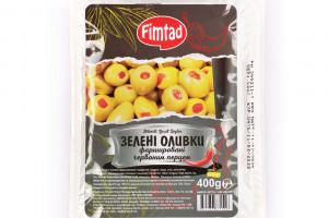 Fimtad Оливки зеленые с перцем 400 г