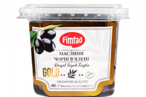 FIMTAD  GOLD - Маслины чёрные вяленые М 400 г