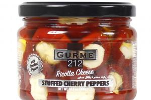 Gurme212 Перец черри c сыром рикотта и пастой из чёрных оливок 300 г